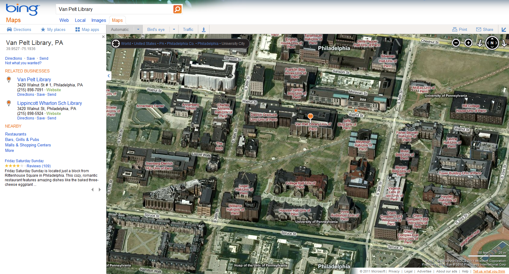 Google Maps vs. Bing Maps | PennWIC on