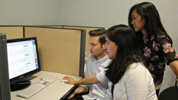 Researchers (from left) Mike Kaiser, Charlene Wong and Cjloe Vinoya