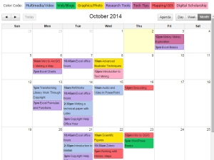 This WICshop calendar is comprehensive and easy to use.