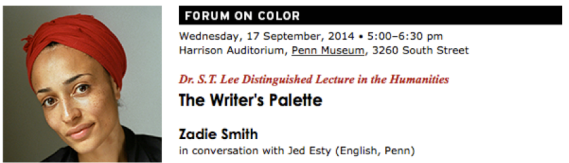 Zadie Smith Event