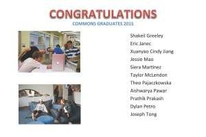 Commons Grads 2015